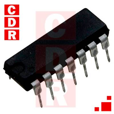 74HC132N QUADRUPLE POSITIVE-NAND GATES WITH SCHIMITT-TRIGGER INPUTS DIP-14 CASE