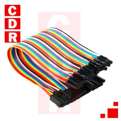 FEMALE CABLE- 20CM FEMALE (PACK FOR 40 UNITS) ARDUINO