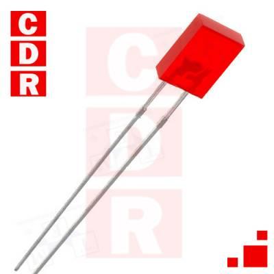 RECTANGULAR RED LED 2X5MM L-113IDT